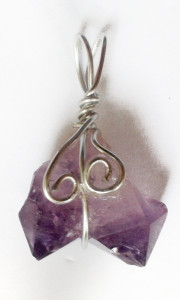 To see our entire range of hand wrapped Amethyst Pendants click here