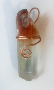 Red Phantom Copper Hand Wrapped Pendant for sale click here for more info