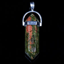 Unakite Dble Point Pendant click here for more info