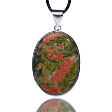 Unakite worry stone pendant for sale click here