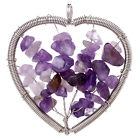 Amethyst Tree of Life Heart Pendant for sale click here for more info