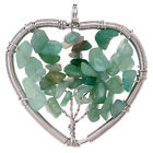 Green Aventurine Tree of life Heart Pendant for sale click here for more info