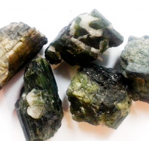 Green Tournmaline Natural Chunks for sale click here for more info