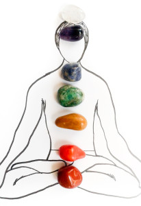 Chakra gemstone system energy in balane