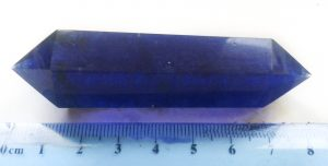 Smelted Blue Quartz Double Terminated Wand for sale click here for more info 1