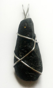 Tektite Hand Wrapped Pendant for sale click here for more info