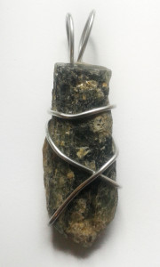 Green Kyanite Hand Wrapped Pendant 2 for sale click here for more info