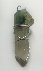 Green Phantom Hand Wrapped Pendant for sale click here for more info