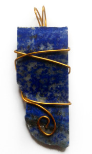 Lapis Lazuli Hand Wrapped Pendant for sale click here