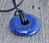 Lapis Lazuli Donut Pendant for sale click here for more info