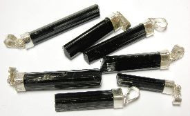 Silver Polished Pendants 35-40 mm Black Tourmaline for sale click here for more info
